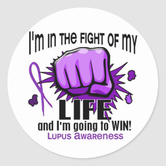 Fight Of My Life 2 Lupus Classic Round Sticker