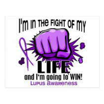 Fight Of My Life 2 Lupus Postcard