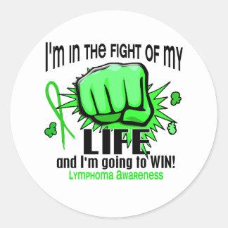 Fight Of My Life 2 Lymphoma Classic Round Sticker