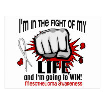 Fight Of My Life 2 Mesothelioma Postcard