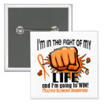Fight Of My Life 2 Multiple Sclerosis 2 Inch Square Button