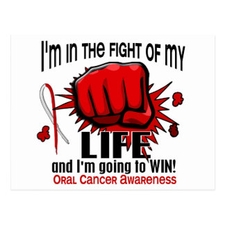Fight Of My Life 2 Oral Cancer Postcard