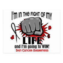 Fight Of My Life 2 Skin Cancer Postcard