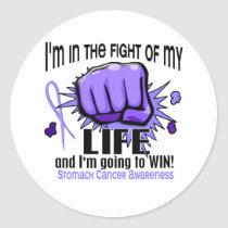Fight Of My Life 2 Stomach Cancer Classic Round Sticker