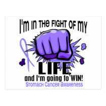 Fight Of My Life 2 Stomach Cancer Postcard