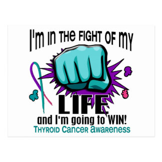Fight Of My Life 2 Thyroid Cancer Postcard