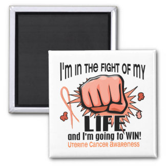 Fight Of My Life 2 Uterine Cancer 2 Inch Square Magnet