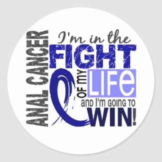 Fight Of My Life Anal Cancer Classic Round Sticker