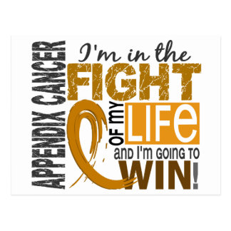 Fight Of My Life Appendix Cancer Postcard