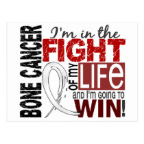 Fight Of My Life Bone Cancer Postcard
