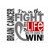Fight Of My Life Brain Cancer Postcard