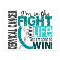 Fight Of My Life Cervical Cancer Postcard