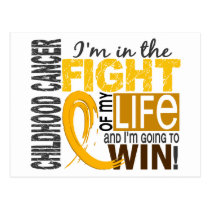 Fight Of My Life Childhood Cancer Postcard