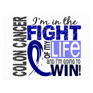 Fight Of My Life Colon Cancer Postcard