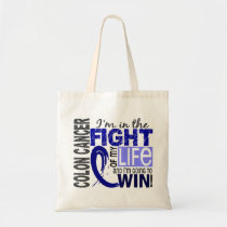Fight Of My Life Colon Cancer Tote Bag