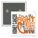 Fight Of My Life Kidney Cancer Pinback Button