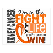 Fight Of My Life Kidney Cancer Postcard