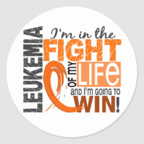 Fight Of My Life Leukemia Classic Round Sticker