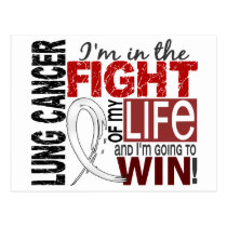 Fight Of My Life Lung Cancer Postcard