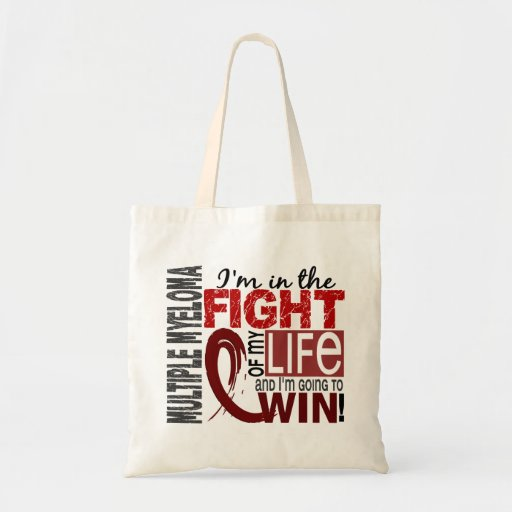 Fight Of My Life Multiple Myeloma Budget Tote Bag