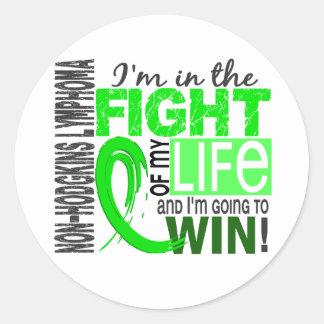 Fight Of My Life Non-Hodgkin's Lymphoma Classic Round Sticker