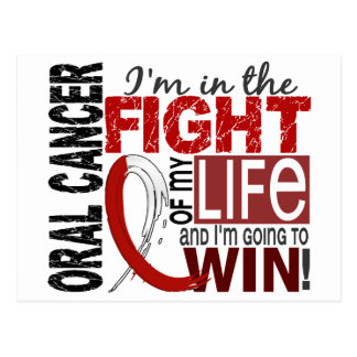 Fight Of My Life Oral Cancer Postcard