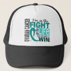 Fight Of My Life Ovarian Cancer Trucker Hat