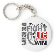 Fight Of My Life Parkinson's Disease Keychain