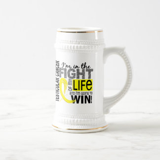 Fight Of My Life Testicular Cancer 18 Oz Beer Stein