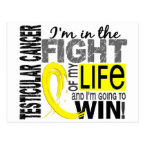 Fight Of My Life Testicular Cancer Postcard