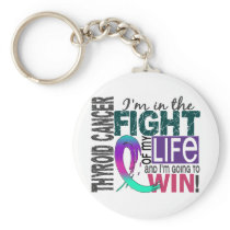 Fight Of My Life Thyroid Cancer Keychain