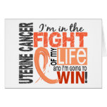 Fight Of My Life Uterine Cancer Greeting Card