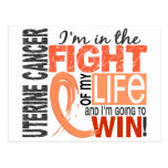 Fight Of My Life Uterine Cancer Postcard