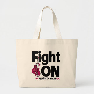 Fight On Against Multiple Myeloma Cancer Canvas Bags