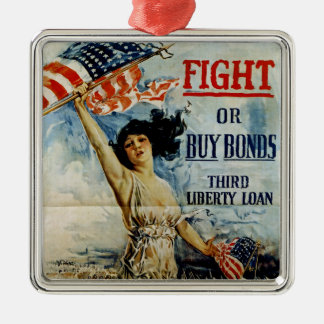 Fight or Buy Bonds Metal Ornament