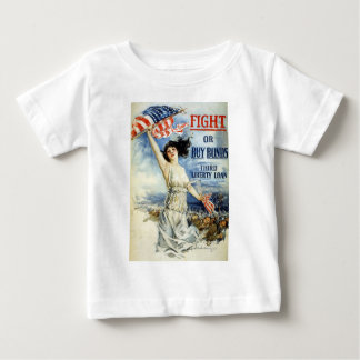 Fight Or Buy Bonds, Vintage WWI Poster Baby T-Shirt