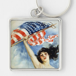 Fight Or Buy Bonds, Vintage WWI Poster Keychain