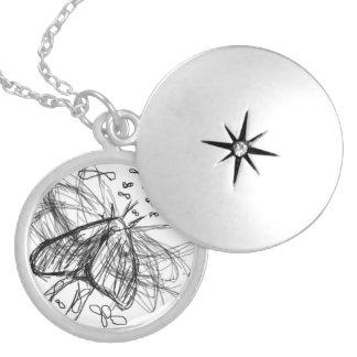 Fight or Flight Round Locket Necklace