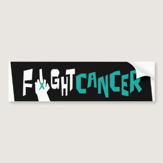 Fight Ovarian, Uterine & Cervical Cancer Bumper Sticker