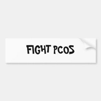 FIGHT PCOS CAR BUMPER STICKER