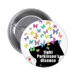 fight pd - butterflies parkinson awareness pin