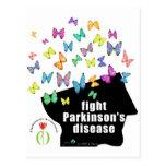 fight pd - butterflies parkinson awareness postcards
