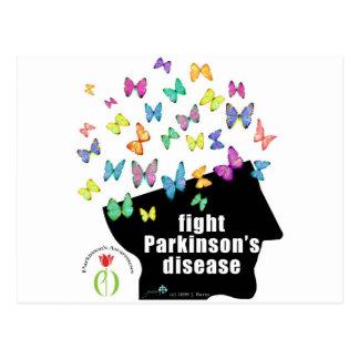 fight pd - butterflies parkinson awareness postcard