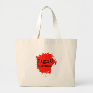 Fight Pilipinas Large Tote Bag