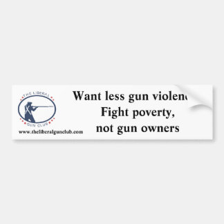 Fight Poverty bumper sticker