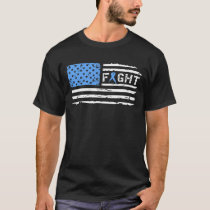 Fight Prostate Cancer American Flag Vintage T-Shirt