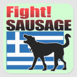 Fight! SAUSAGE Square Sticker