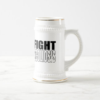 Fight Scoliosis Beer Stein