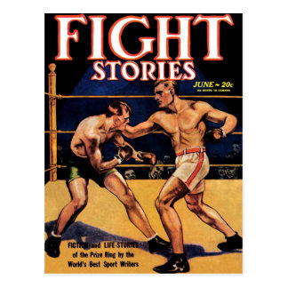 Fight Stories Postcard
