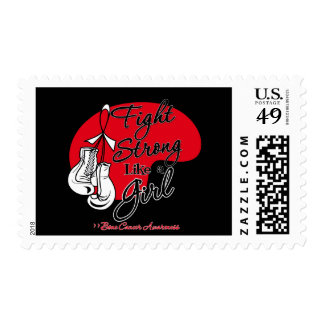 Fight Strong Like a Girl Bone Cancer Postage